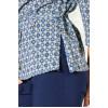 Блузка 102-2(013) синяя